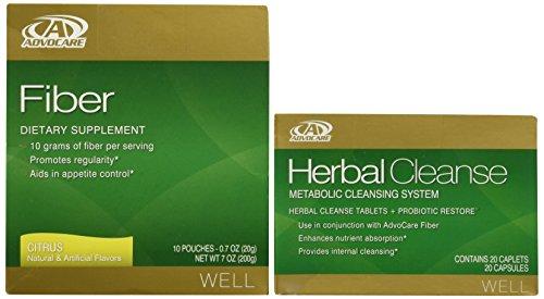 AdvoCare Herbal Cleanse & Fiber CITRUS kit | Herbal Cleanse 20 Capsules & Fiber 10 Pouches