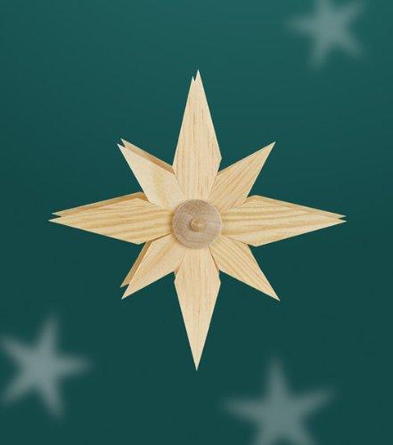 Aufsteckstern Holzstern Lichterkette Schwibbogen Weihnachtsdeko Sterne 318-2 NEU