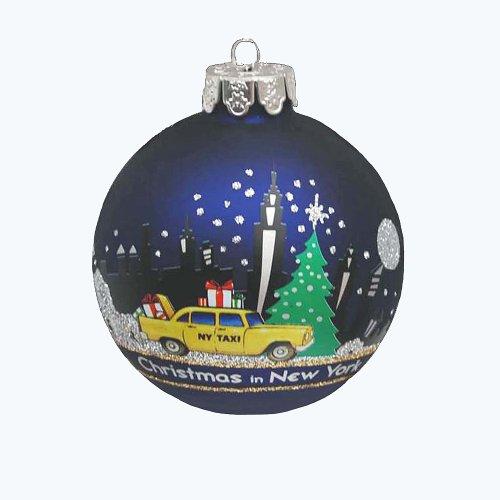 Kurt Adler New York Glass Ball Ornament, 80mm (Kurt Adler Ornaments New York compare prices)
