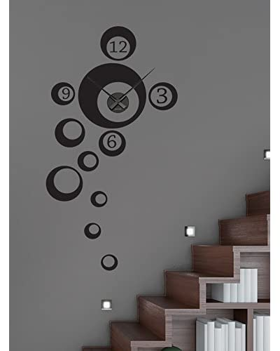 Ambiance Live Vinile Decorativo Clock numbers in bubbles