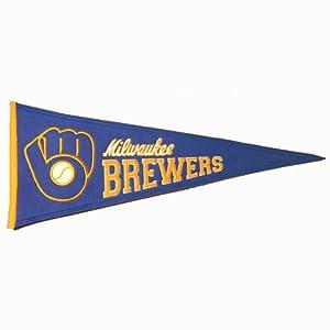Milwaukee Brewers MLB Cooperstown Pennant (13x32) by Winning Streak