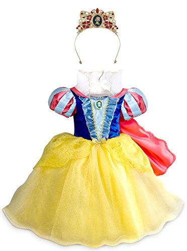 [Disney Snow White Little Girls' Costume Gown and Tiara Set, Size 5/6] (Sit And Be Fit Costume)