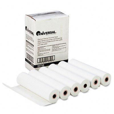 Universal 35758 Economical Thermal Facsimile Paper, UNV35758