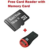 Sandisk 16GB Micro Sd Card Class 4 Memory Card + Card Reader (Combo Of 2 Pcs) Only From M.P.Enterprises