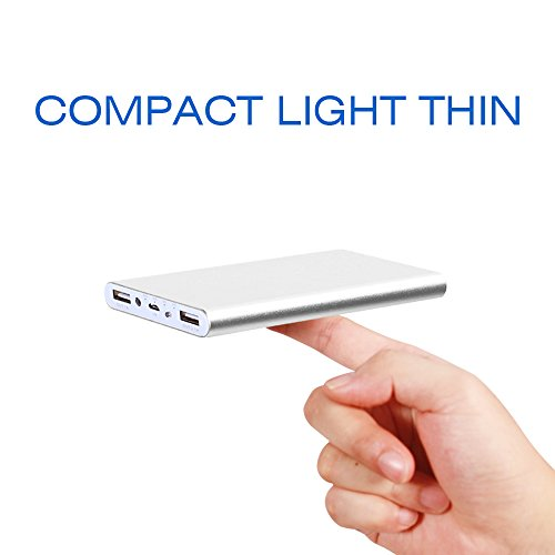 POLANFO 20000M Universal Ultra Compact 20000mah Power Charger External Battery Pack Portable Charger Power Bankfor iPhone 6 Plus 5S 5C 5 4S, iPad Air, mini, Galaxy S6 S5 S4 S3, Note 4 3 2, Tab 4 3 2 Pro, Nexus 4 5 7 10, HTC One, One 2 (M8), LG G3, MOTO X G, most other Phones and Tablets(Silver)