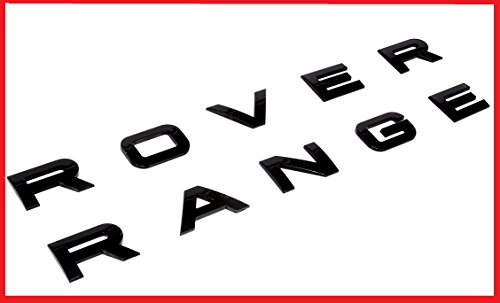 New SET Range Rover Glossy Black Land Rover Range Emblem Logo Badge Letters Hood Trunk Hse (Black Range Rover Letters compare prices)
