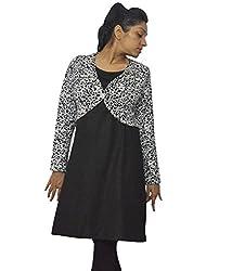 Atulya Black woolen kurti with shrug