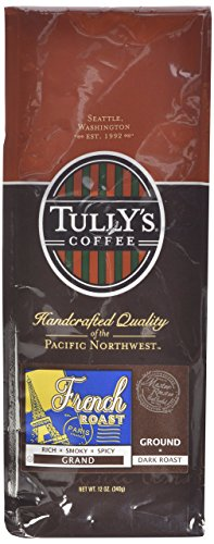 Tully's Coffee French Roast, Ground, 12-Ounce Bags (Pack of 2) (Seattle Mountain French Roast compare prices)