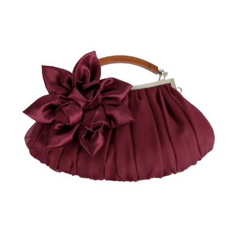 bmc-burgundy-floral-embellished-sheer-chiffon-exterior-kissing-lock-clasp-resin-handle-framed-party-
