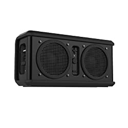 Skullcandy Air Raid Rugged Water and Drop Resistant Portable Rechargeable Wireless Bluetooth Speaker - Black