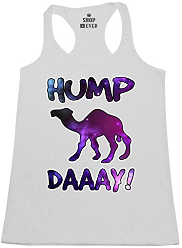 Shop4Ever® Hump Day! Galaxy Women's Racerback Tank Top Funny Tank Tops Medium White 0