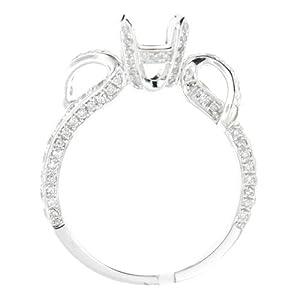 SEMI MOUNT 1.20 CARAT NATURAL DIAMOND ENGAGEMENT RING 18K WHITE GOLD