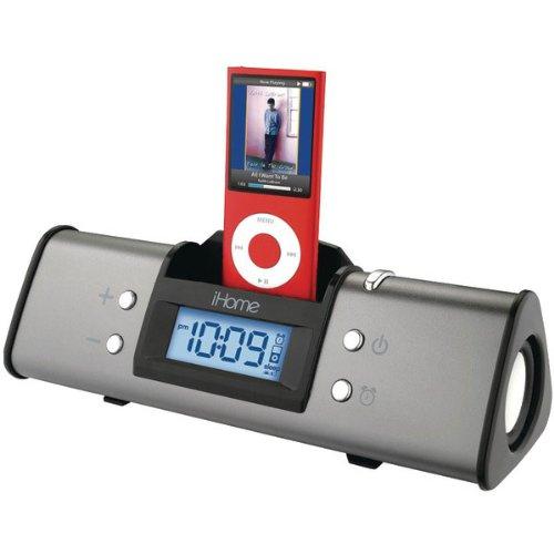 SDI iHome Alarm Clock Speaker System (Gun Metal)
