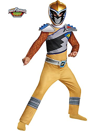 Gold Ranger Dino Charge Classic Costume for Kids