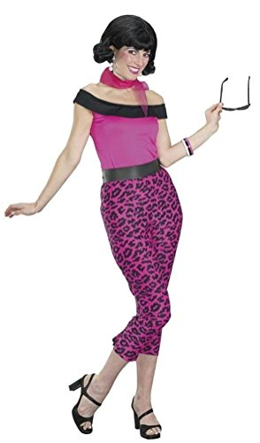 Coslove Grease 50's Pink Leopard Outfit Adult Costume Medium