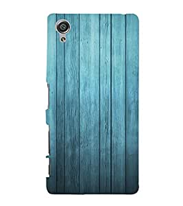 Blue Wood Background 3D Hard Polycarbonate Designer Back Case Cover for Sony Xperia X :: Sony Xperia X Dual