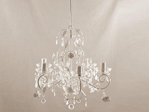 Lampadario Ferro Bianco 6Lumi 50x44 illuminazione luce decorazione casa interni