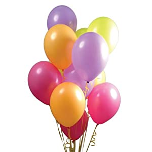 "Pack of 50 Assorted Colours Party Balloons, latex"": Amazon.co.uk"
