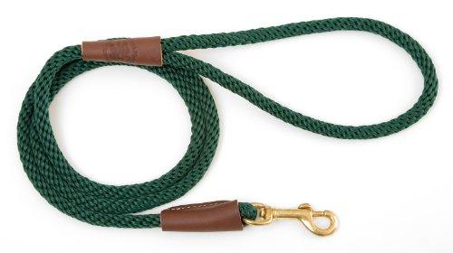 Mendota Products Dog Snap Leash, Hunter Green, 1/2-Inch X 4-Feet