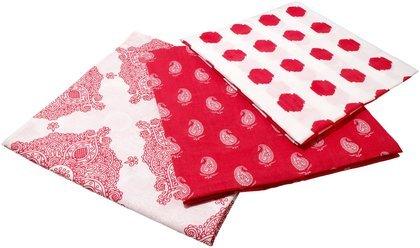 Masala Baby Kolam Swaddle Wrap Set- Red