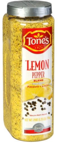 Tone's Lemon Pepper Blend - 28oz shaker