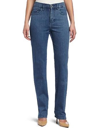 Lee Women's Misses Classic Fit Nora Slim Straight Leg Jean, Bluebird, 4 Short