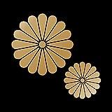菊花紋 カッティングステッカー 大小セット ゴールド 金
