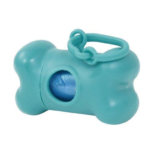 Water & Wood Blue Bone Design Dispenser Box W Pet Doggie Garbage Trash Clean-Up Bag