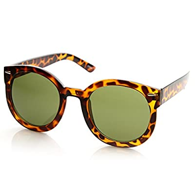 zeroUV - Womens Plastic Sunglasses Oversized Retro Style with Metal Rivets