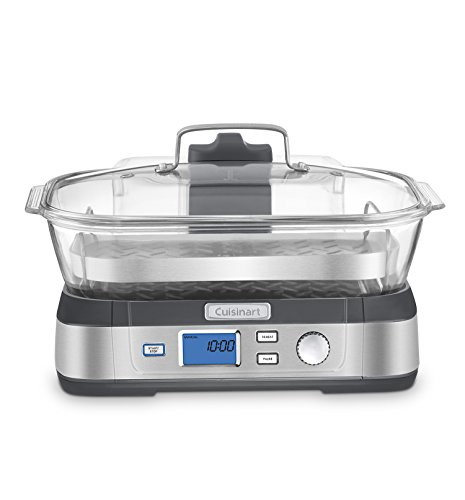 Cuisinart STM-1000 CookFresh Digital Glass Steamer, Stainless Steel (Steamer Cuisinart compare prices)