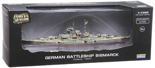 UNIMAX 1/1000 ビスマルク ドイツ軍戦艦 ポーランド 1941