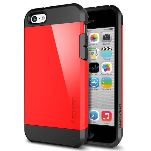 国内正規品SPIGEN SGP iPhone5c ケース タフ・アーマー [クリムゾン・レッド]SGP10545