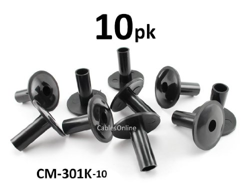 CablesOnline 10-PACK Coaxial Cable Feed-Through Wall Protector Bushing (CM-301K-10)