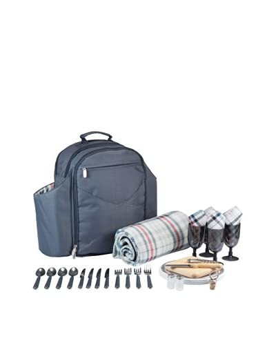 Picnic Time Big Ben Insulated Backpack Cooler With Deluxe Service For 4
