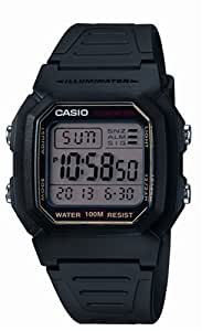 CASIO Collection W-800HG-9AVES - Reloj de caballero de cuarzo, correa de resina color negro (con cronómetro, alarma, luz)