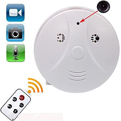 4 Function Video/Pic/Voice/Motion Detect HD Hidden Camera Smoke Fire Detector Shape Secret Spy Tool Evident Record for Room Apartment Protect Secret Cam Stranger Activities Watcher AL1-10 by EConcept