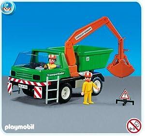 Playmobil chantier camion de travaux et ouvriers amazon - Playmobil camion chantier ...