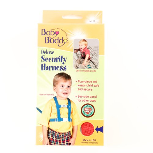 Baby Buddy Deluxe Security Harness, Red front-349978