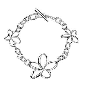 Hot Diamonds Plumeria Silver And Diamond Bracelet