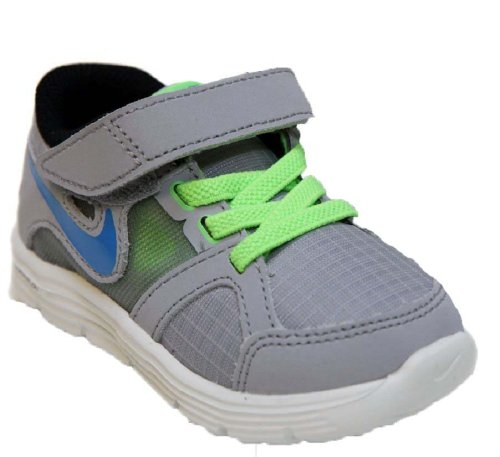Nike Toddlers Boy's Lunar Forever 2 Walking Shoes-Wolf Gray/Blue/Flash-7