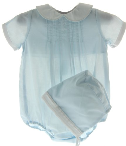 Baby Boys Dressy Blue Bubble Outfit Petit Ami