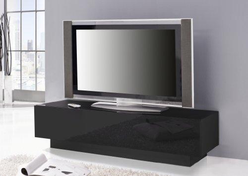 wohnzimmer ideen testen lowboard ego lackierte glasfront und oberboden in schwarz. Black Bedroom Furniture Sets. Home Design Ideas