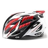 【JCFマーク付】軽量ジャパンフィット自転車ヘルメット(4600)コンビレッド S~Mサイズ