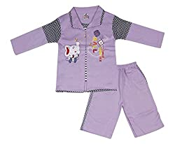 Little Buds Violet Cotton Full Sleeve Baby Wear