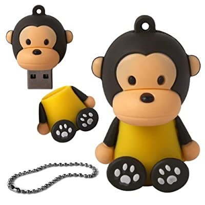 iGloo 8GB Novelty Baby Monkey USB 2.0 Flash Drive Data Memory Stick Device - Yellow and Brown by iGloo