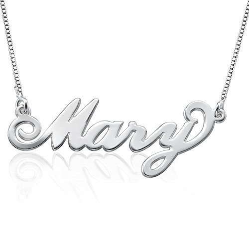 Sterling Silver Personalized Carrie Style Name Necklace - Custom made with any name! (Custom Jewelry Necklace compare prices)