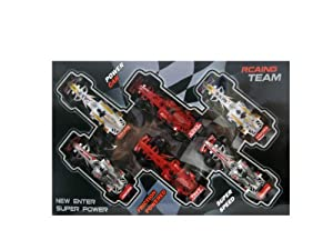 WeGlow International Pull Back Racing Cars - Set of 6