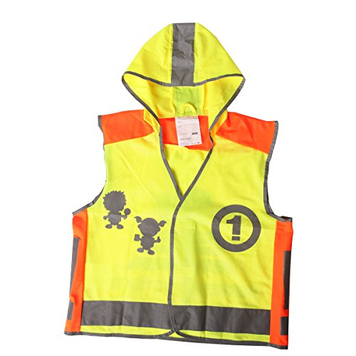 Black Friday! Wawacycles High Visibility Neon Yellow Kids Safety Vest With Reflective Strips L Size front-27768