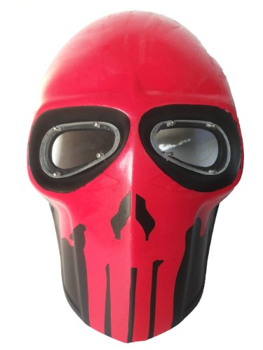 New Unique Handmade THE PUNISHER Paintball Airsoft BB Gun Mask Black RED Army PROTECTIVE GEAR OUTDOOR SPORT And Fancy Party Ghost Masks.