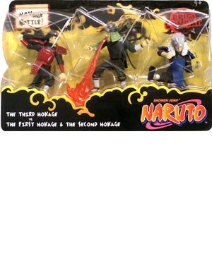 Picture of Mattel Naruto Battle Packs Hokage Battle Action Figure Multi-Pack (B000WN2U1W) (Naruto Action Figures)